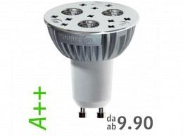 LED Spot Bulb A++ : onlux DeltaLux Florett 827 LED-Spot - 4.1W onlux Power LED - 301lm Halo Ra>80 - 35° - GU10 (50W)