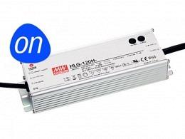 MW HLG Alimentaziun LED 120W 24V - Tensiun Constanta - IP65