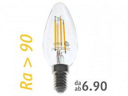 LED Bulb : onlux FiLux B35-4C E14 4-Filament LED 230V - 3.4W 310lm Ra>90 300°(30W)