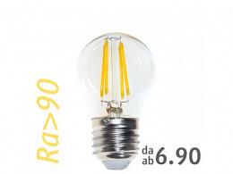 LED Bulb : onlux FiLux P45-4C (G45) E27 4-Filament LED 230V - 3.1W 360lm Ra>90 300°(35W)