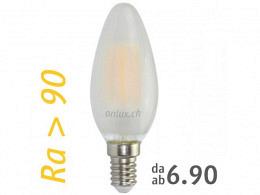 LED Bulb : onlux FiLux Matte B35-4CM E14 4-Filament LED 230V - 3.4W 310lm Ra>90 300°(30W)